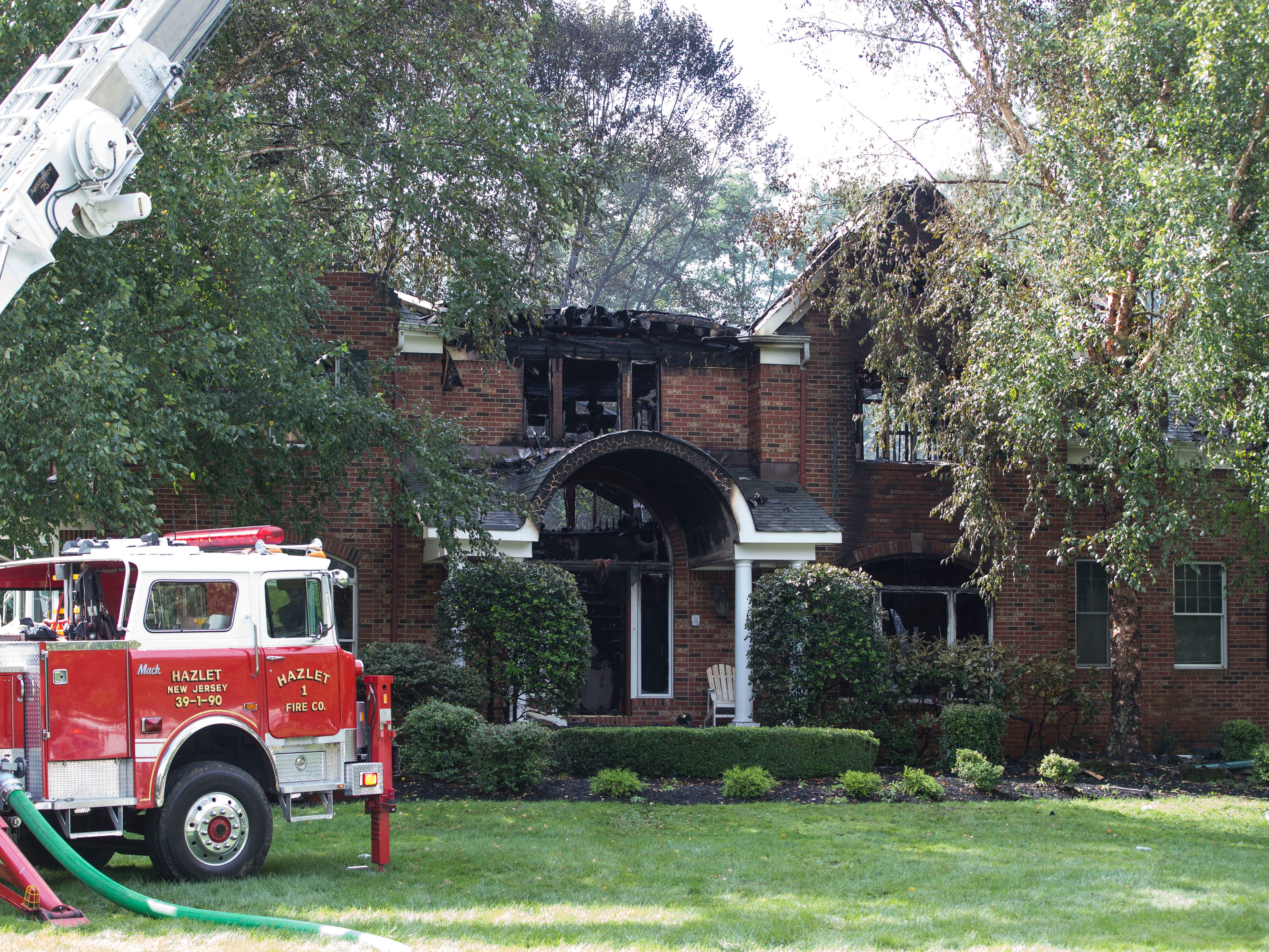 A home located at 6 Barrister Drive in Holmdel suffered severe damage after a fire broke out early morning on the back deck and quickly engulfed the structure.