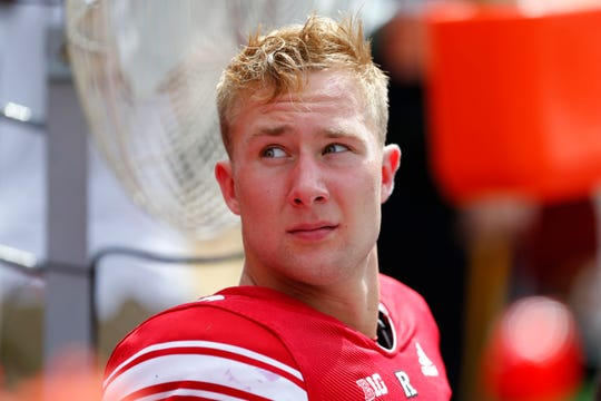 Rutgers Scarlet Knights quarterback Artur Sitkowski (8) during second half against Texas State Bobcats.