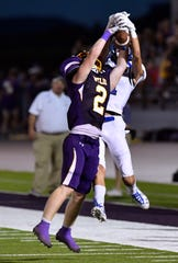Wylie defensive back Gus Davis intercepts a pass meant for Georgetown wide receiver Noah Drum during a season-opening loss to Georgetown.