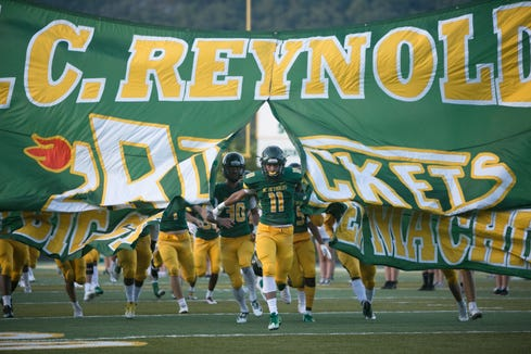 A.C. Reynolds beat out Owen with a final score of 48-9 on Friday, August 31st, 2018 at Reynolds.