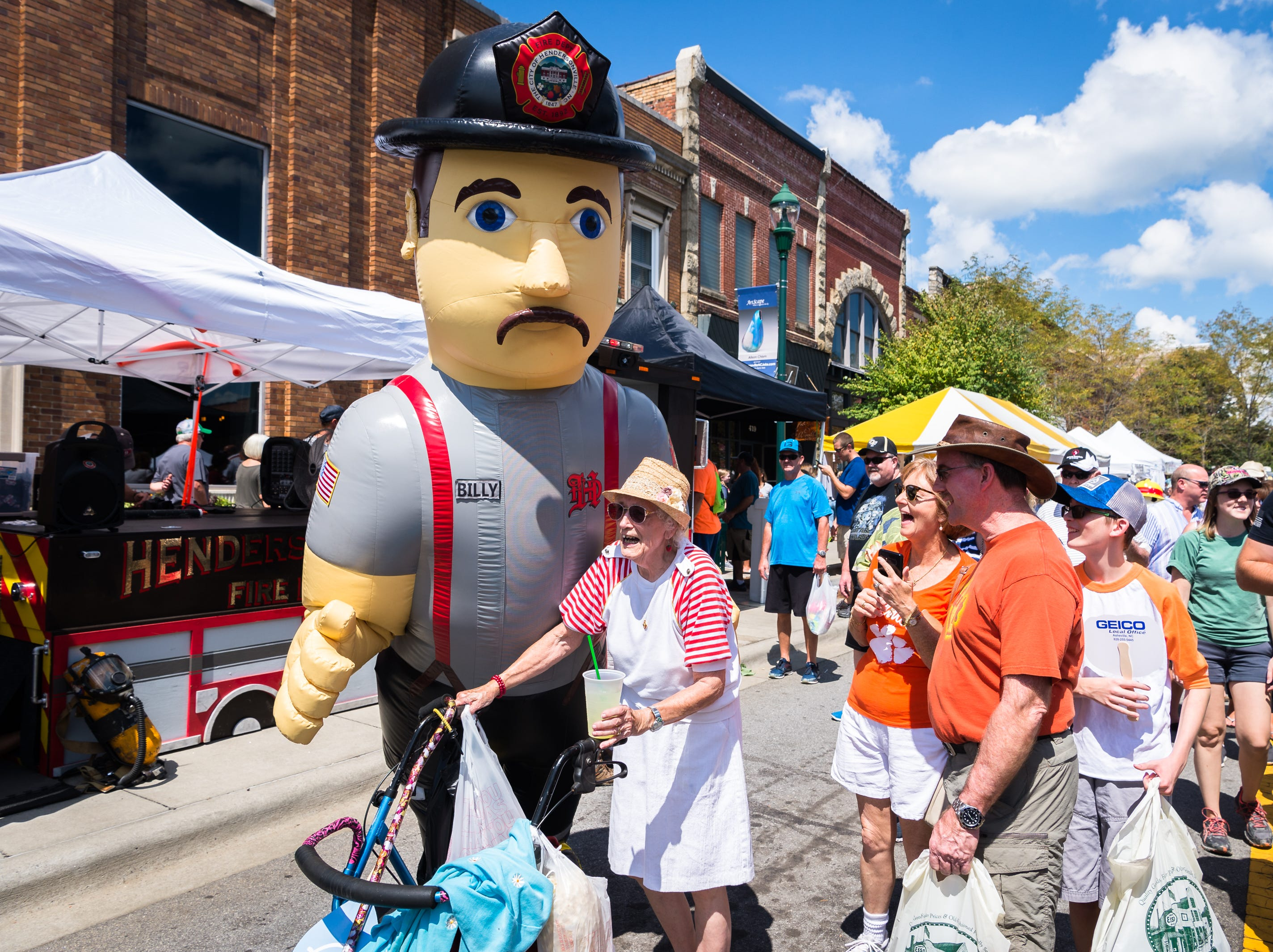 Thousands of people filled Main Street in Hendersonville for the 72nd annual North Carolina Apple Festival Saturday, September 1, 2018.