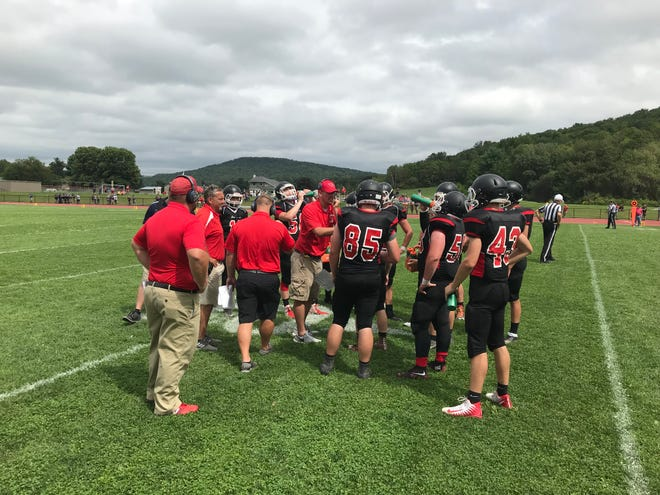 Newark Valley opened its football season Saturday with a 10-6 victory over Tioga Central.