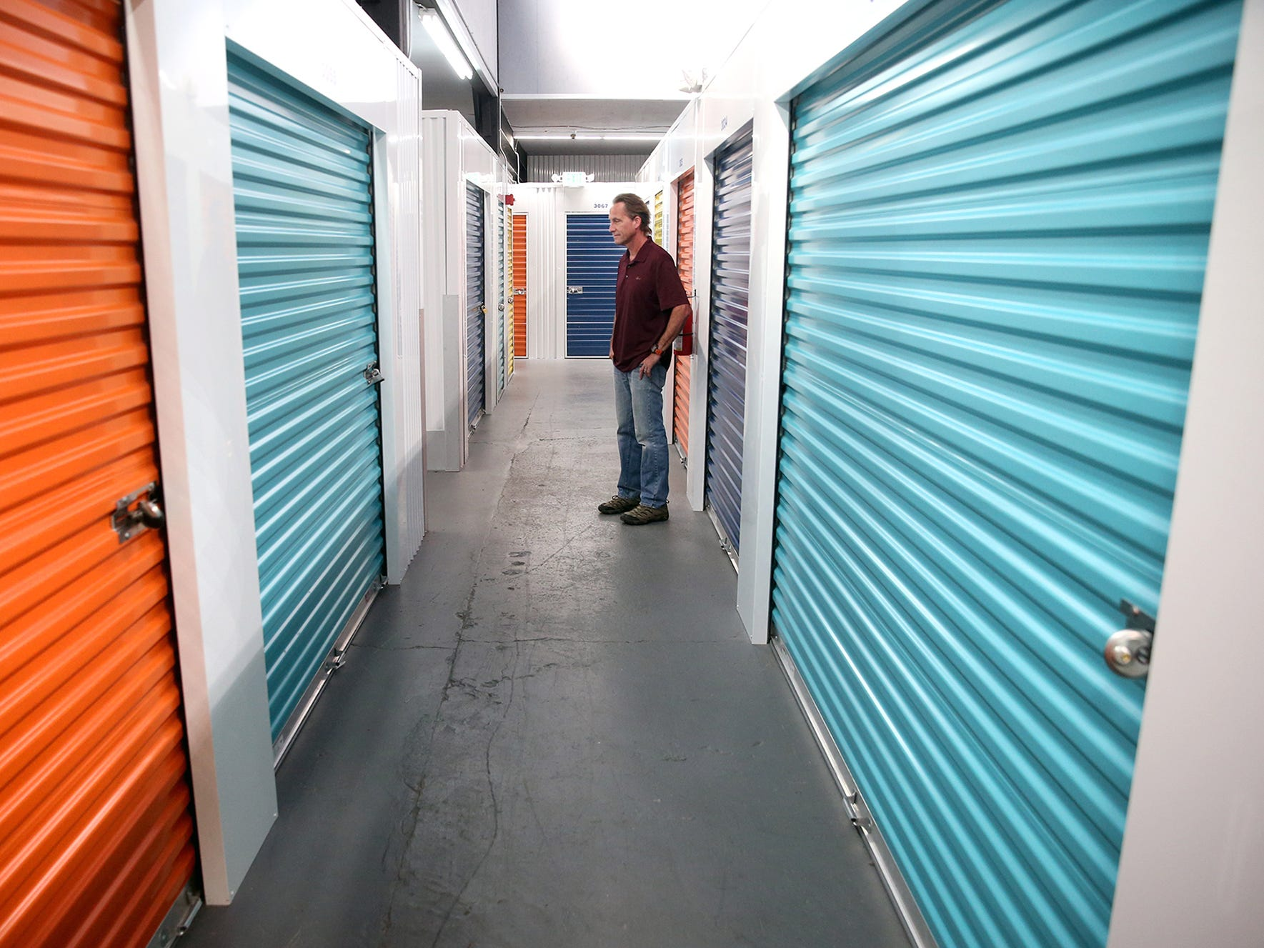 """Paul """" Trip"""" McConkey the owner of the Penn Plaza inside his Bremerton Storage units."""