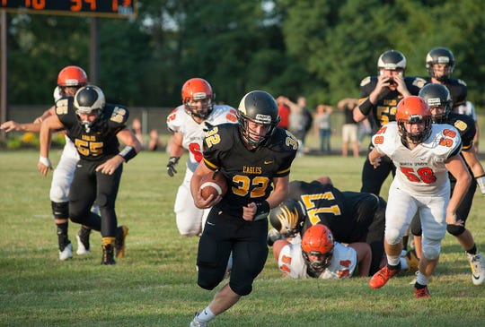 Colonel Crawford's Dylan Knisely has 414 rushing yards this season so far.