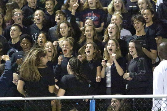 The student section for the SeaWolves season opening game brought out a mixture of BHS and SBHS students to chear on their new co-op team.