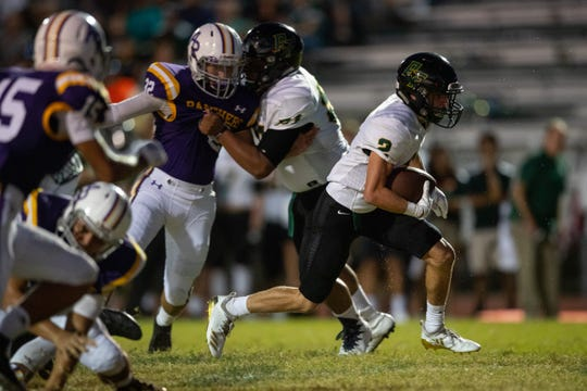 Rockport-Fulton plays Aransas Pass at Bo Bonorden Stadium in Aransas Pass on Friday, Aug. 31, 2018.