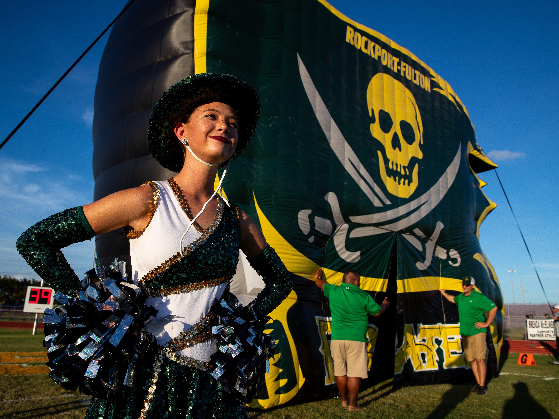 Rockport-Fulton plays Aransas Pass at Bo Bonorden Stadium in Aransas Pass on Friday, Aug. 31, 2018.