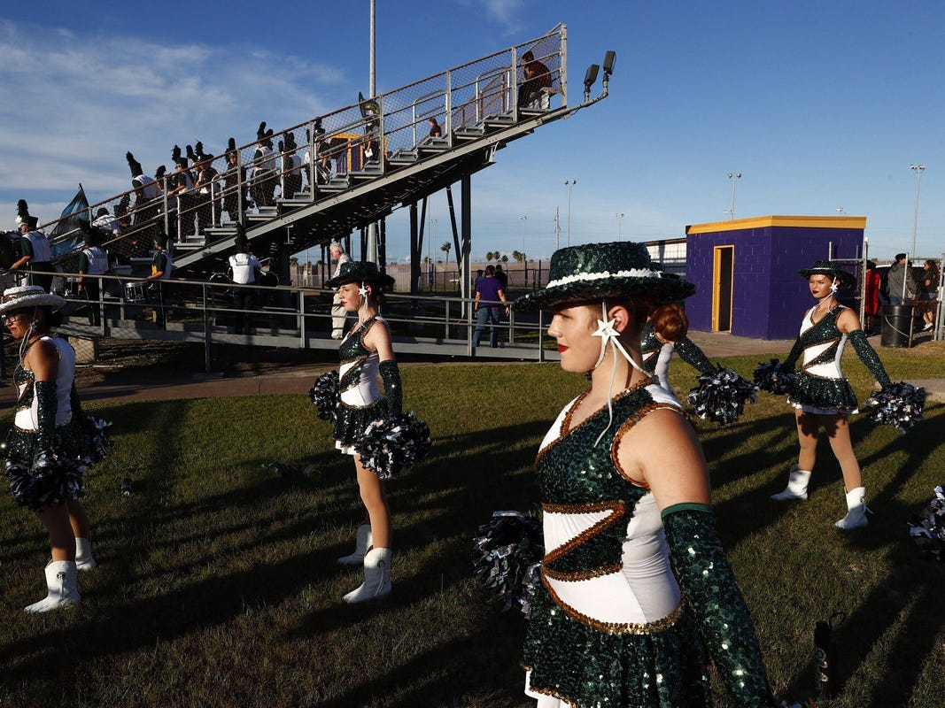 Rockport-Fulton Pirates get ready for their football season opener against the Aransas Pass Panthers at Bo Bonorden Stadium in Aransas Pass.