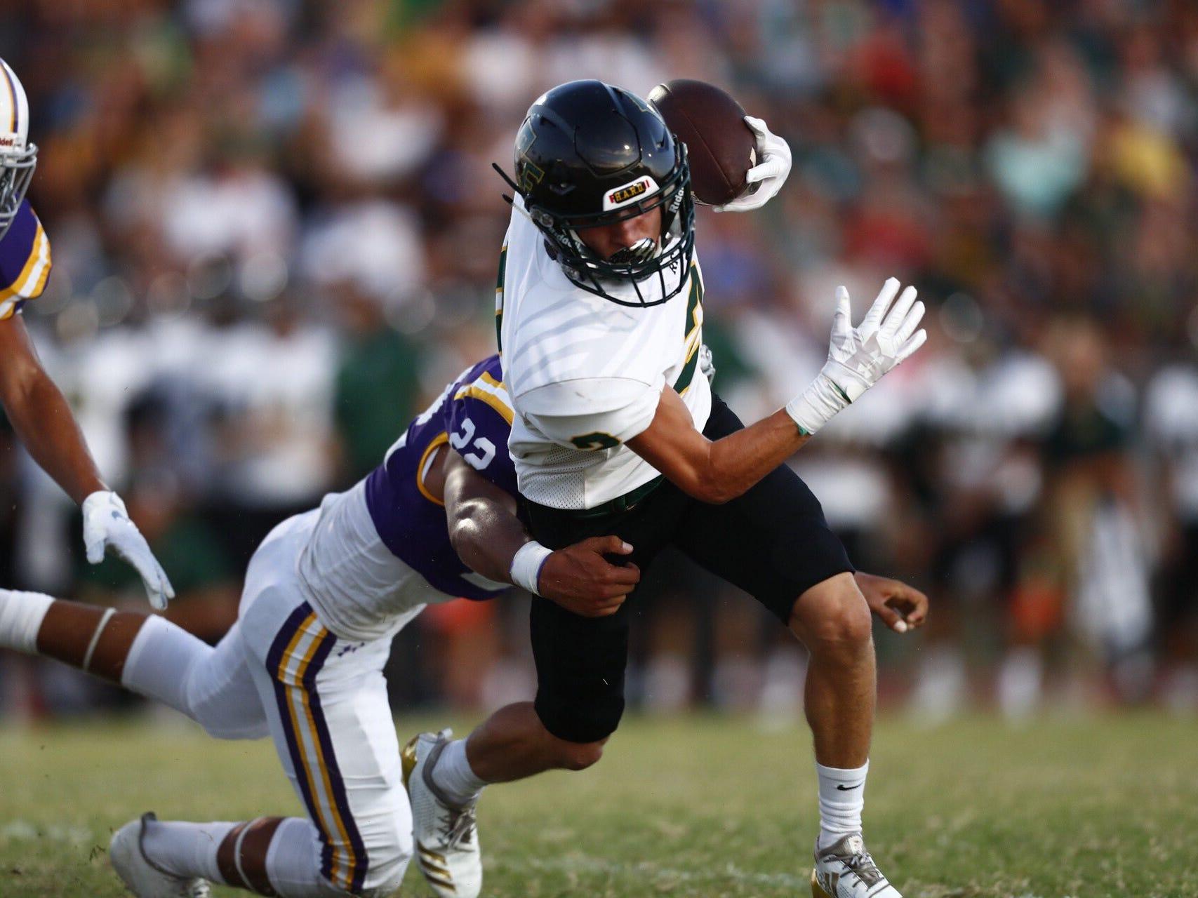 Rockport-Fulton Pirates battle the Aransas Pass Panthers in their high school football season opener at Bo Bonorden Stadium in Aransas Pass.