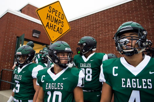 West Deptford exits the locker room before taking on Paulsboro Friday, Aug. 31, 2018 at West Deptford High School in West Deptford, N.J. Paulsboro won 19-14.