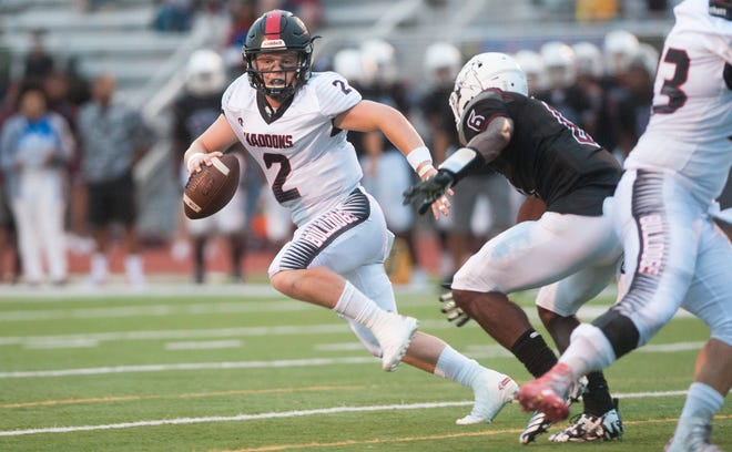 Haddonfield quarterback Jay Foley will lead his 2-0 Haddons against also-undefeated Cinnaminson on Friday night. it's the first game at Haddonfield's renovated stadium and has major South Jersey Group 2 implications on the line.