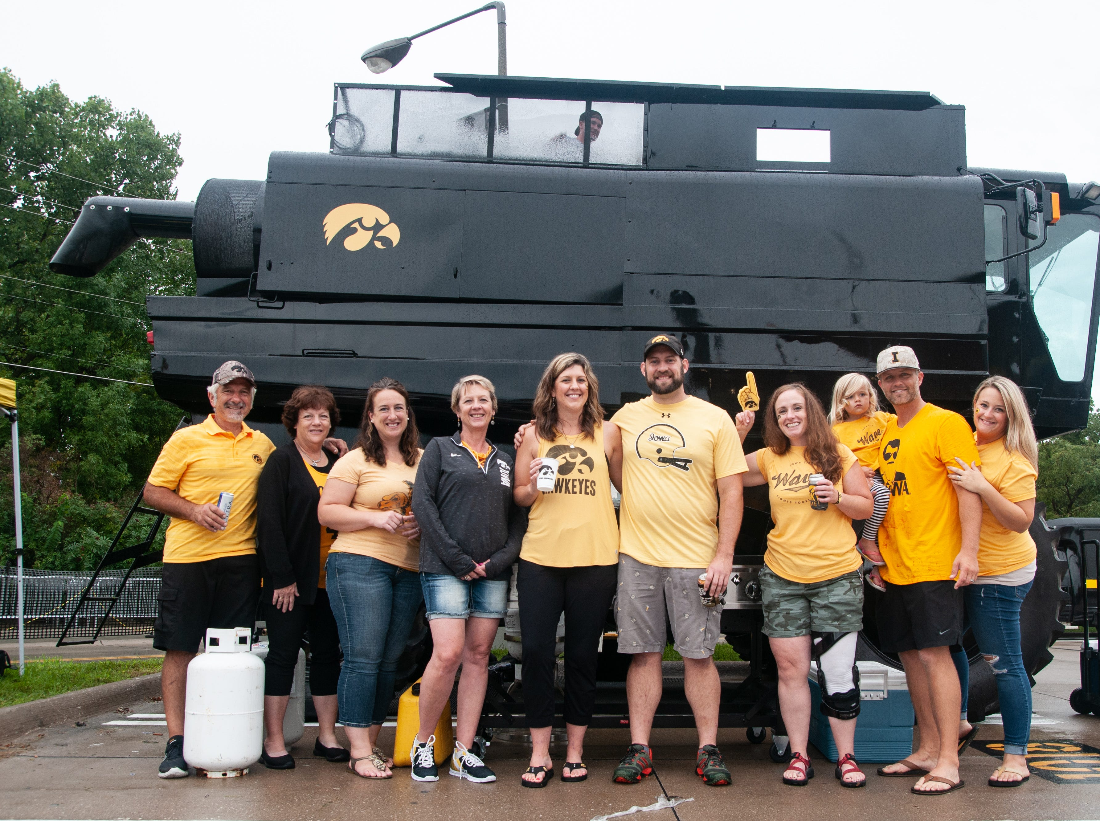 The Kinnick Combine Tailgate, Saturday, Sept. 1, 2018, while tailgating before the Iowa game against Northern Illinois in Iowa City.