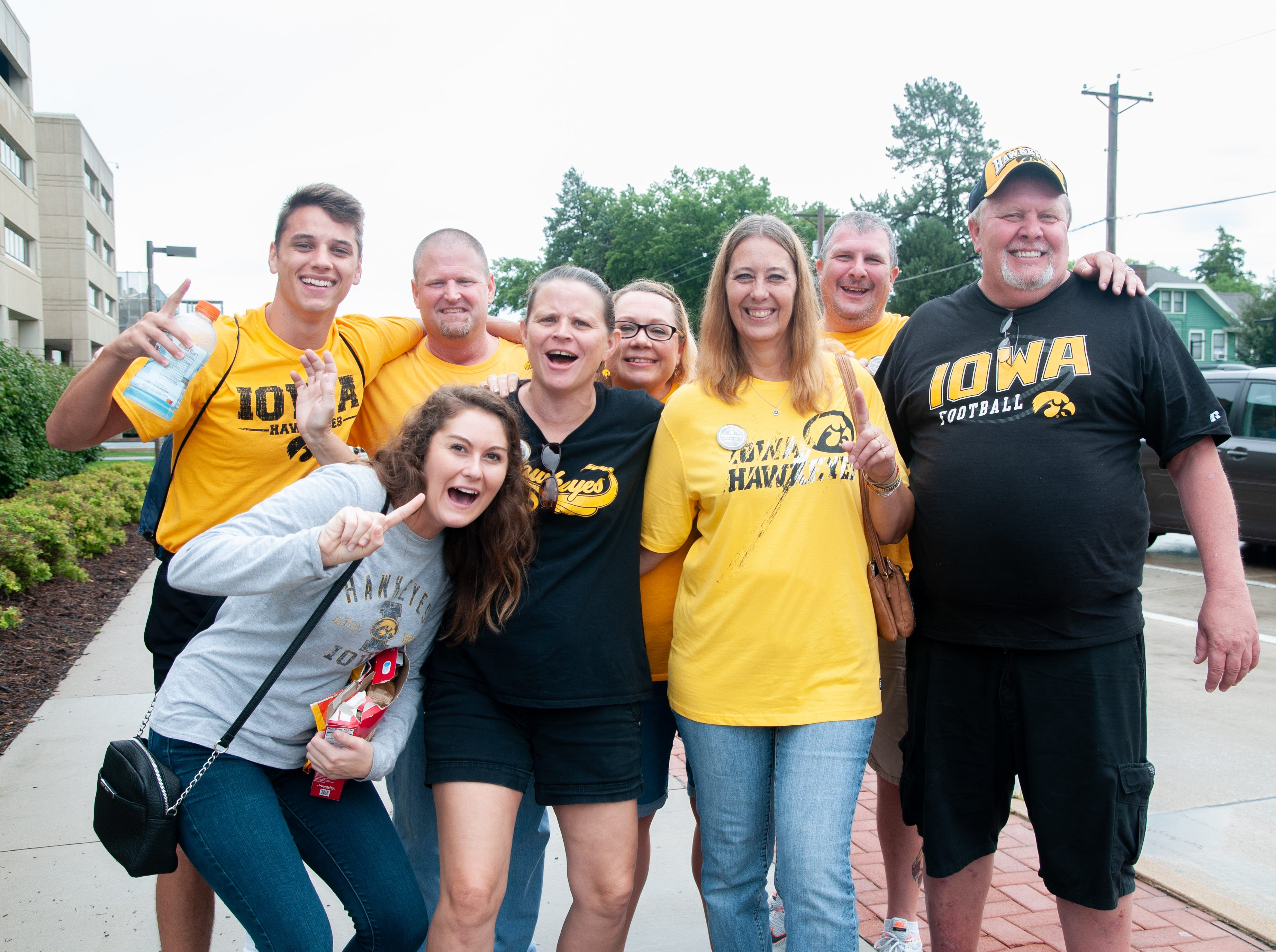 The Conger family and friends, of Davenport, Saturday, Sept. 1, 2018, while tailgating before the Iowa game against Northern Illinois in Iowa City.
