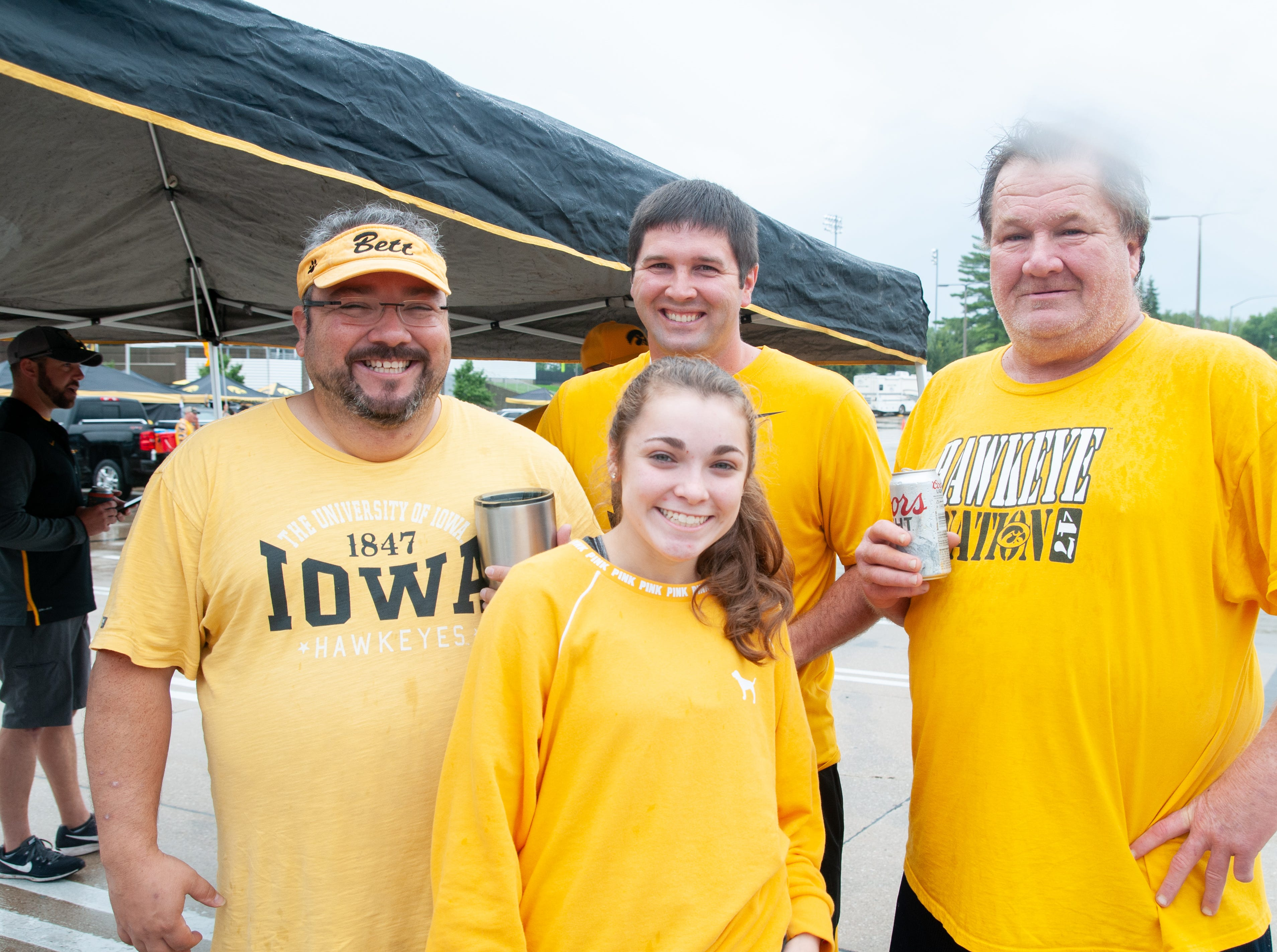 The Skahill Tailgate, of Bettendorf, Saturday, Sept. 1, 2018, while tailgating before the Iowa game against Northern Illinois in Iowa City.