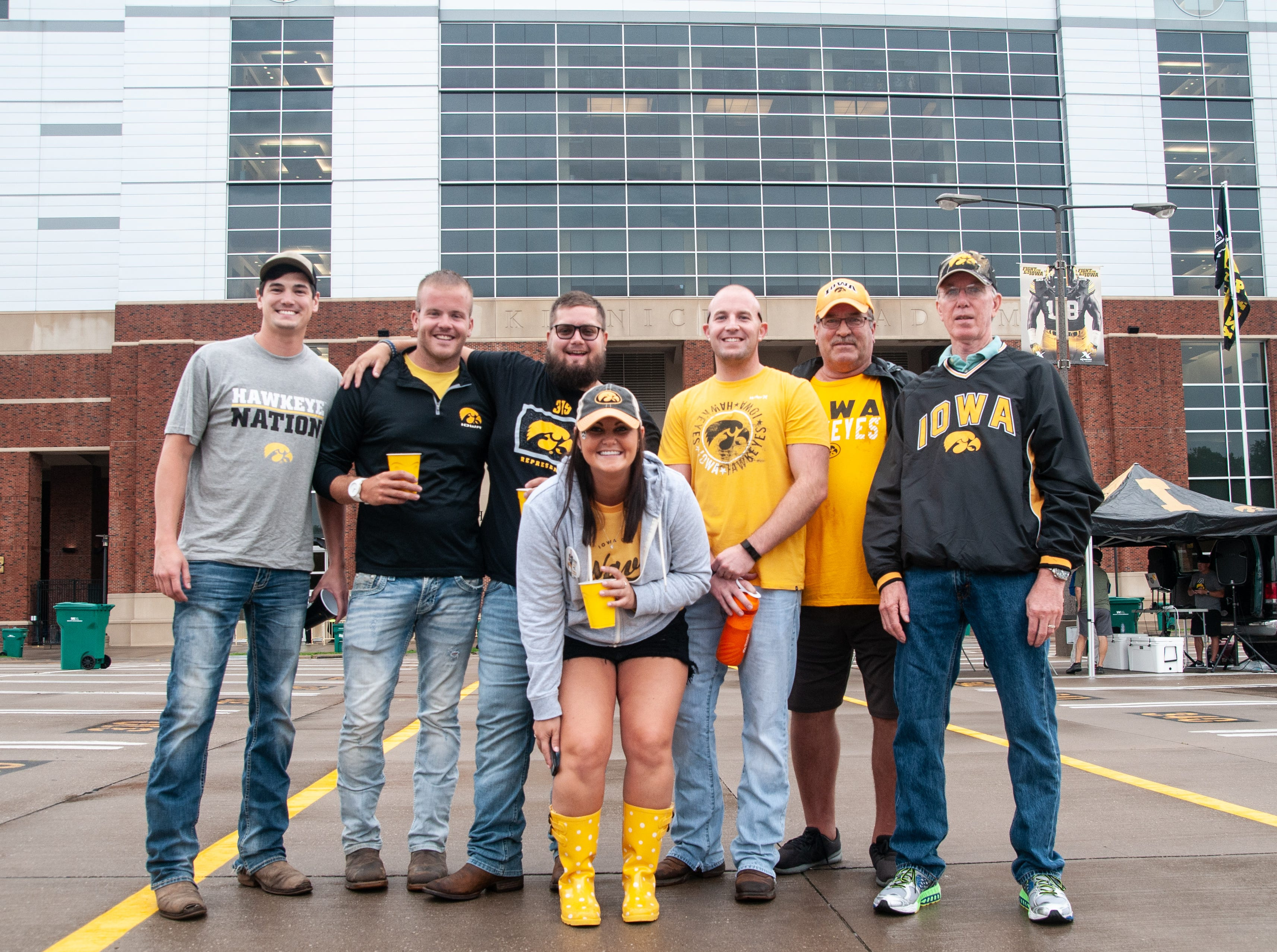 Rastetter family and friends, of Guttenberg, Saturday, Sept. 1, 2018, while tailgating before the Iowa game against Northern Illinois in Iowa City.