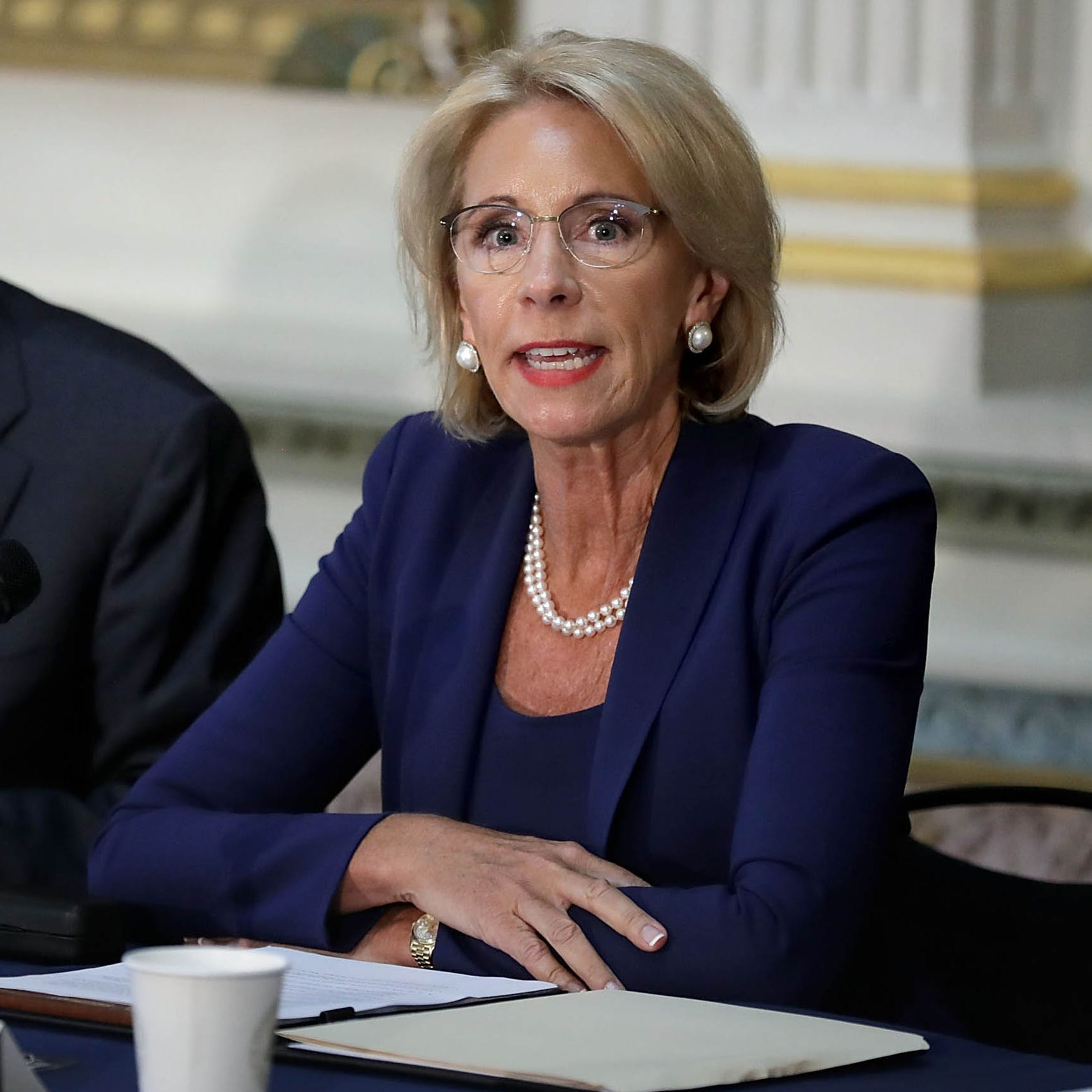Devos calls questions from Democrats about Special Olympics cut 'disgusting'