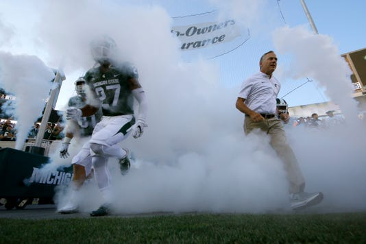 MSU takes the field, Mark Dantonio
