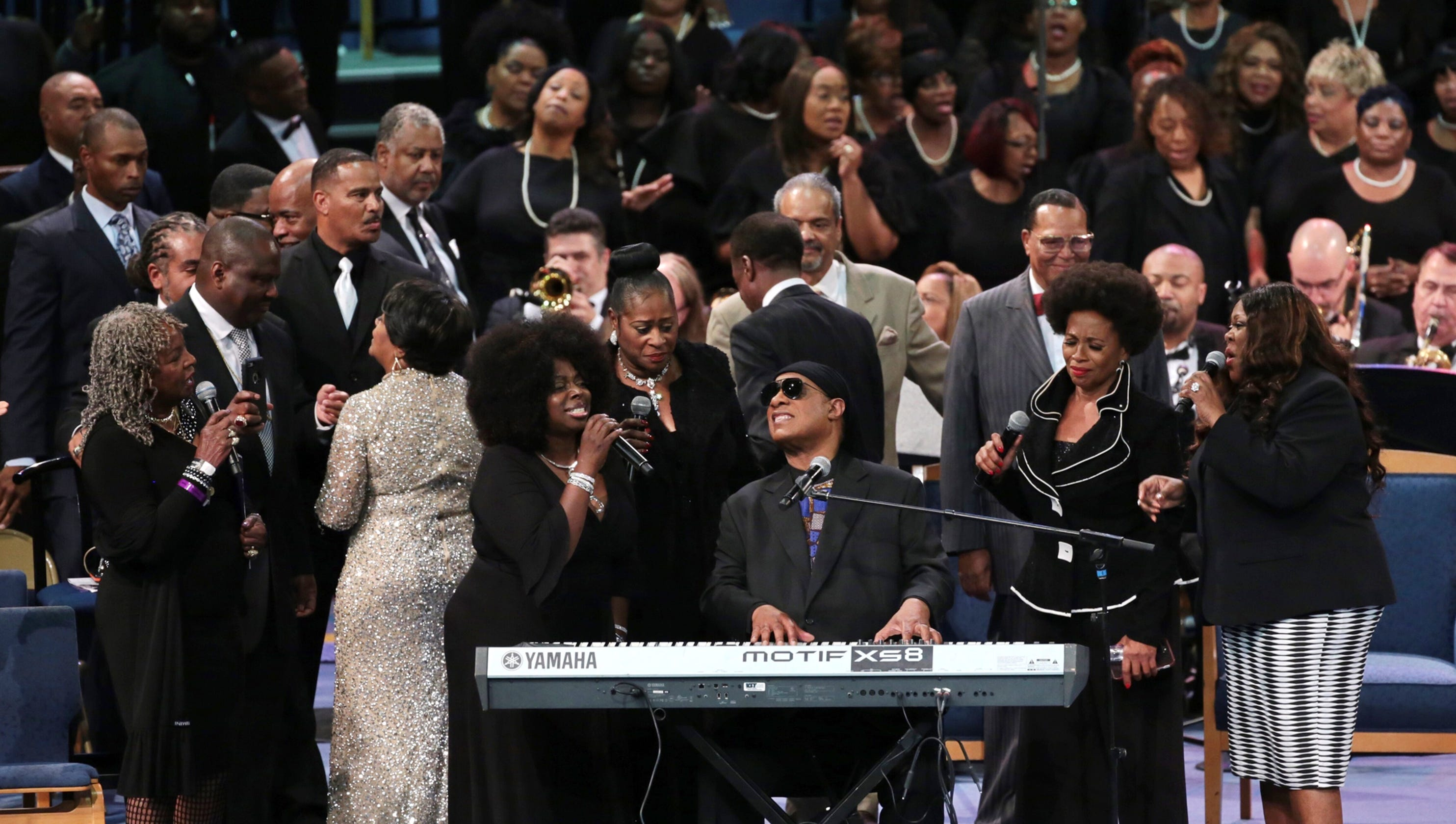 Star-studded service rich in respect for Aretha Franklin