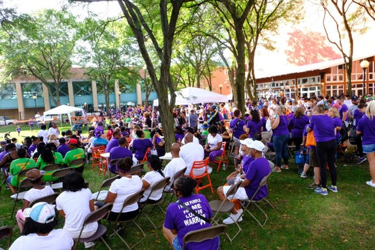 Families gathered in New Center Park Saturday for Lupus Detroit Sixth Annual Walk.