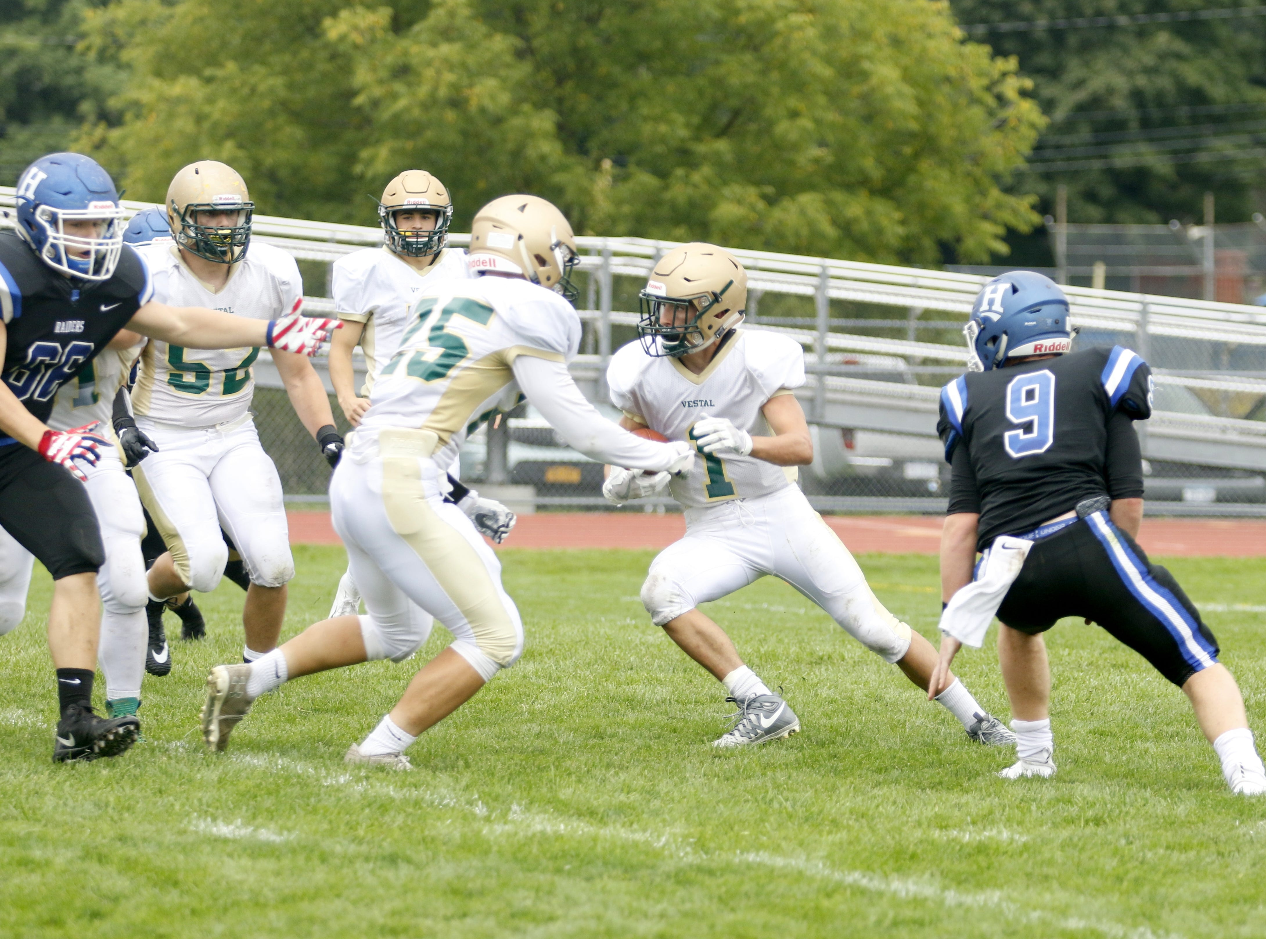 Horseheads was a 13-6 winner over Vestal in football Sept. 1 at Horseheads High School.