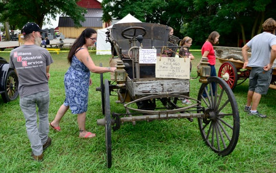 The annual Sandusky County Restorers of Antique Power show was held in Gibsonburg. S.C.R.A.P. members are interested in the preservation and exhibition of antique classic gas engines and related items.