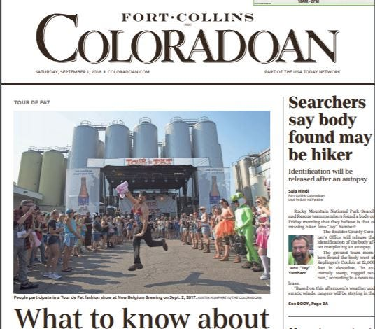 Delivery of the Coloradoan may be delayed Saturday