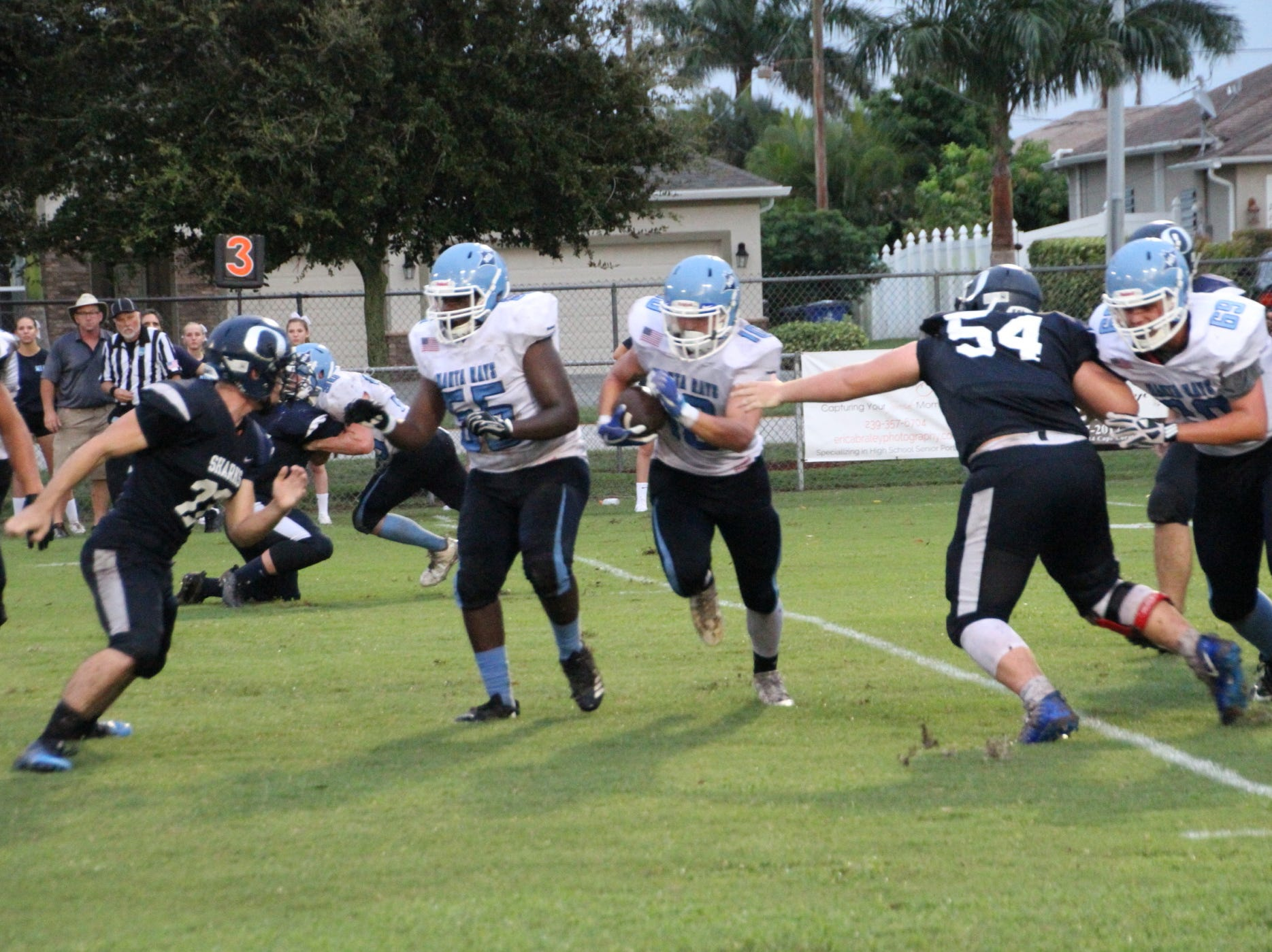 Marco Island traveled to Cape Coral to play Oasis on Friday night.