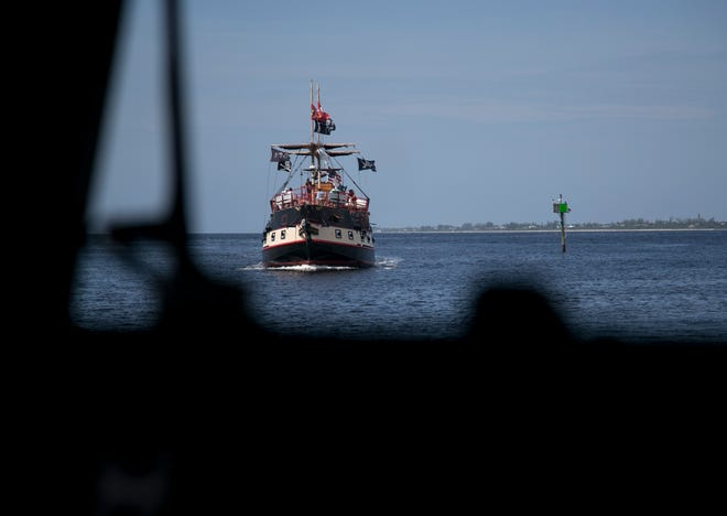 The Salty Sams Pirate Cruise is one of the many Coast Guard-licensed charter boats in the area.