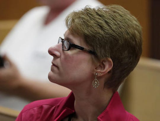 Neville Public Museum Director Beth Lemke is shown at a County Board Meeting at City Hall on Wednesday, May 16, 2018 in Green Bay, Wis.