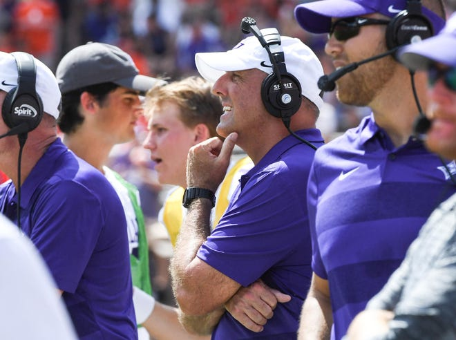 Furman head coach Clay Hendrix during the third quarter in Memorial Stadium in Clemson on September 1.