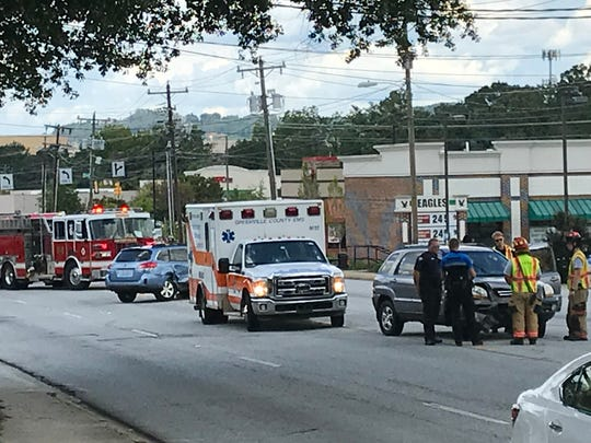 Pelham Road was scene of a two-car collision Friday near East North Street. The intersection consistently rates high for accidents in the city of Greenville.