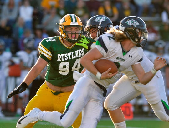CMR's Nick Konesky (94) was selected to the Montana East-West Shrine Game, as well as teammate Tucker Greenwell.