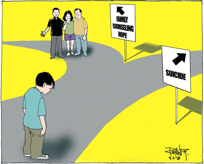 sunday cartoon on suicide prevention
