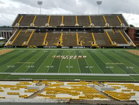 M.M. Roberts Stadium The Rock Southern Miss
