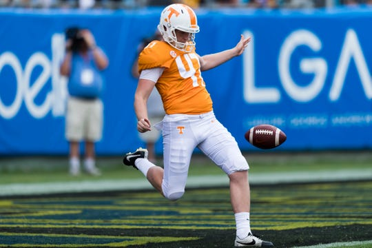 Tennessee's Joe Doyle is averaging 40.6 yards per punt.