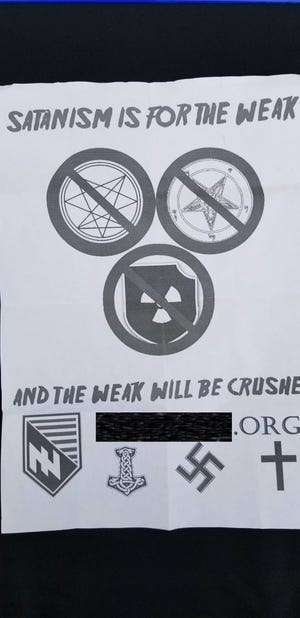 Fliers from the National Socialist Legion, a white supremacist group, were found at Loeb Stadium and around Lafayette's Columbian Park Saturday. (Editor's note: The group's website has been blacked out.)