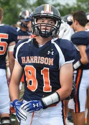 Will Miller leads Harrison with seven receptions this season.