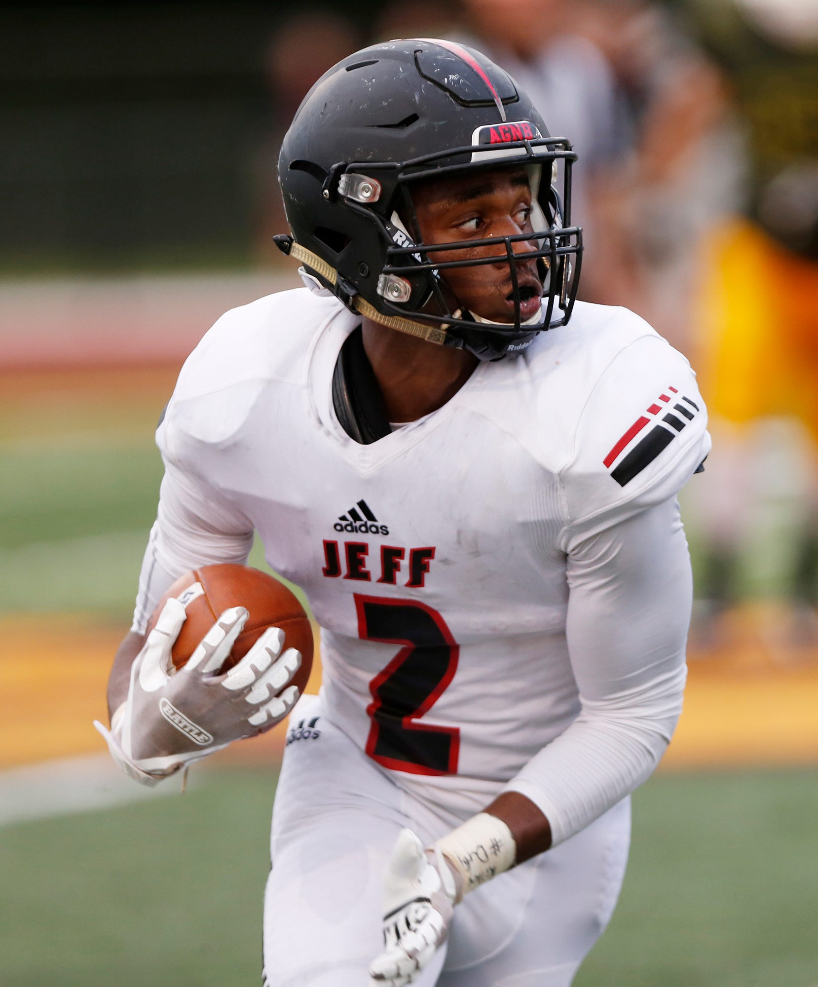 Derrick Matthews of Lafayette Jeff is among the state leaders in receiving yards.