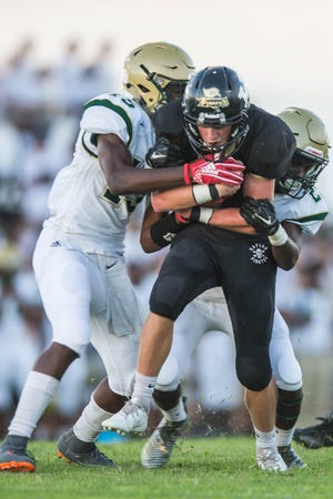 Kaplan had six different ball carriers and Acadiana had four in their Game of the Week showdown last Friday.