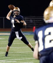 Lancaster senior quarterback Tyler Monk helped lead the Lancaster football team to six consecutive wins and a share of the Ohio Capital Conference-Ohio Division championship. He is hoping to do the same as a shortstop on the baseball team.