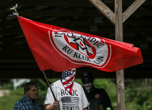 Ku Klux Klan Cookout And Protest