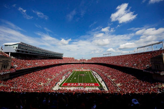 Panoramic view of Ohio Stadium for Ohio State's season opener against Oregon State.