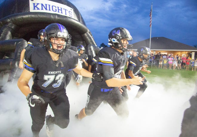 The Montgomery Catholic Knights took on the Anniston Bulldogs in the first home game of the season.