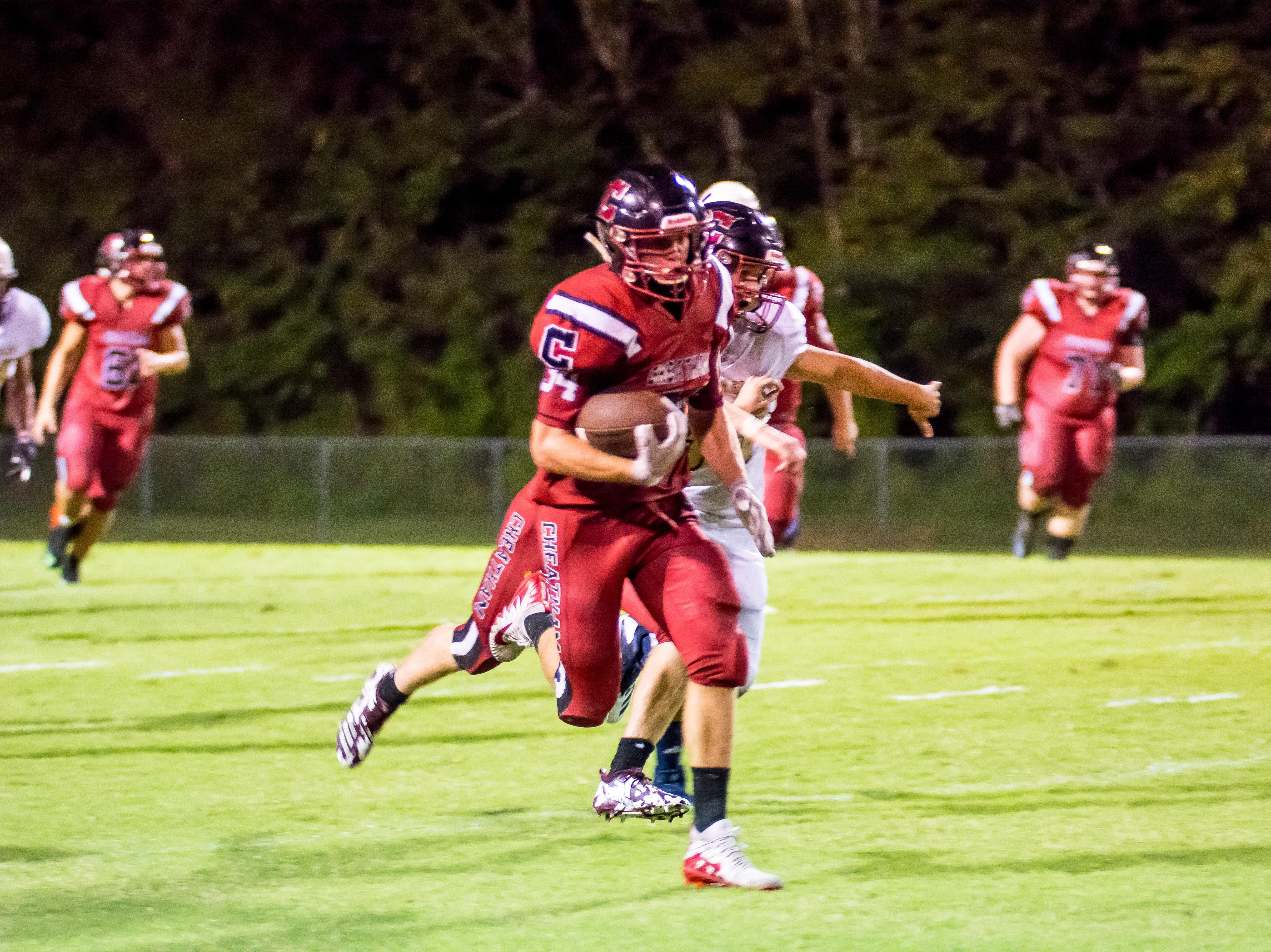 Cheatham Cub senior Walker Bunce had a good night as well including this 60-plus yard run for a Cub TD to tie the game 7-7.