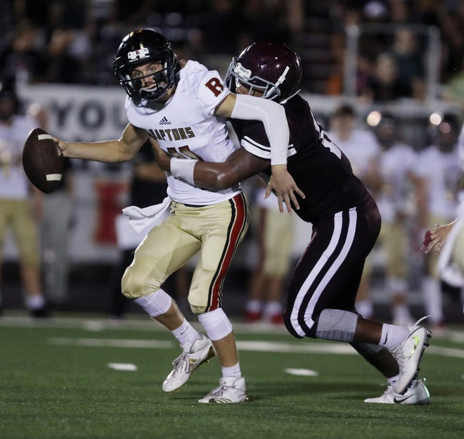 Quarterback Brian Garcia (4) and Ravenwood are off to a 3-0 start despite trailing in the second half of all three games.