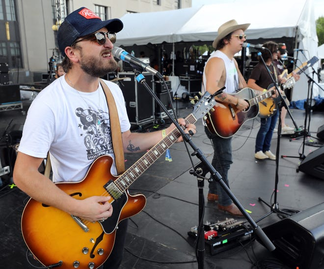 The Wild Feathers take the stage for sound check prior to their Live On The Green performance Thursday, August 30, 2018.