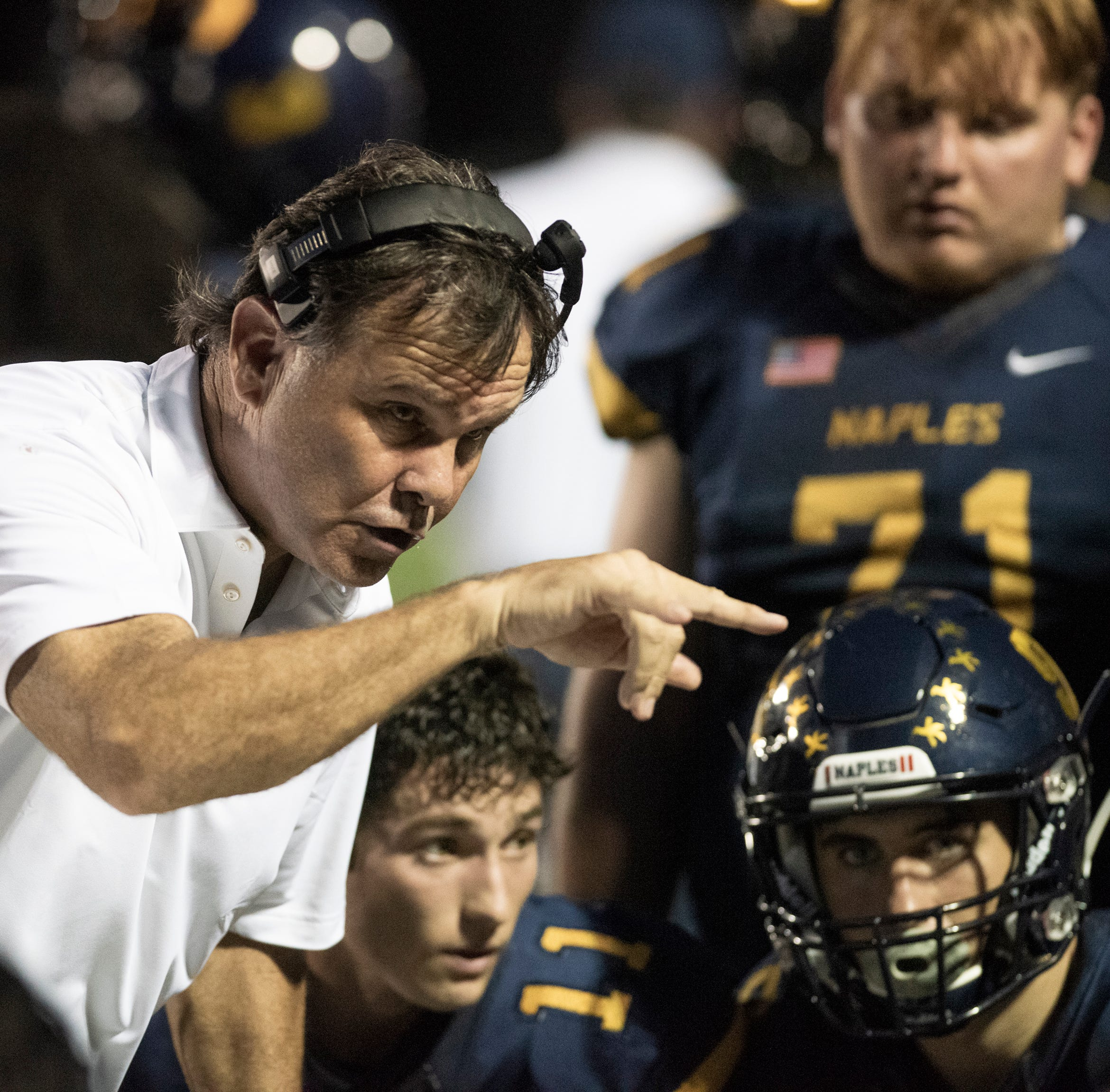 High school football notebook: Kramer wins 200th game at Naples