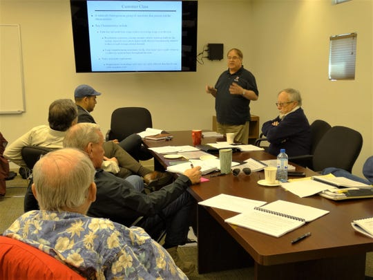 New Mexico State University professors presented information to the UCAG committee as the volunteer members trained to carry out utility rate reviews. LCU Board members were also invited to participate in the training.