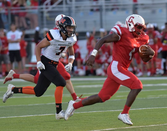 Canton's Steven Walker has run for 849 yards and nine touchdowns in four games.