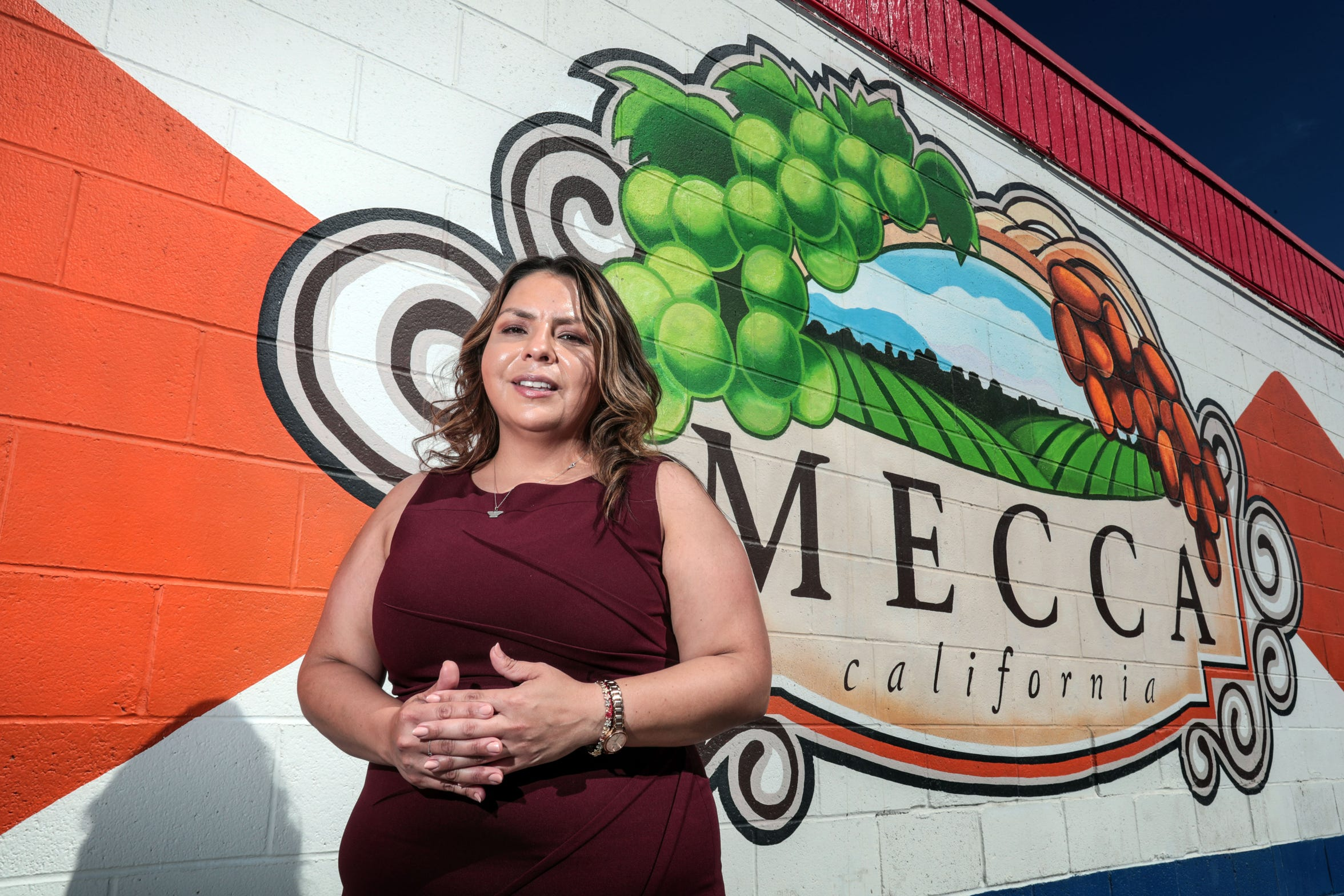 Mecca Community Council and CVUSD School Board member Maria Machuca on Thursday, August 30, 2018 in Mecca.